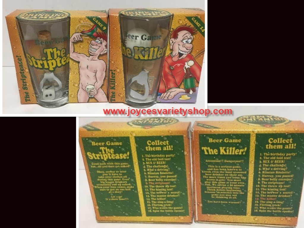 Beer Games The Striptease and The Killer #9 #14 ADULTS Drinking Games