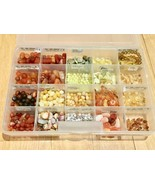Lot of Semi Precious Beads Stones Yellow Opal Botswana Orange red Agate ... - $113.80