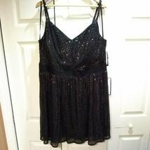 CITY STUDIO Womens Silver Spaghetti Strap Empire Waist Party Dress 22W P... - $15.25