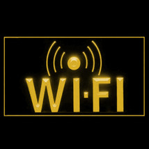 130021B Wi-Fi Internet Access Cafe Apps Download Display Coffee LED Light Sign - $18.00