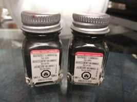 2 TESTORS PAINT GRAPHITE METALLIC ENAMEL 1/4oz JAR 7.4ml plastic model 1... - $6.92