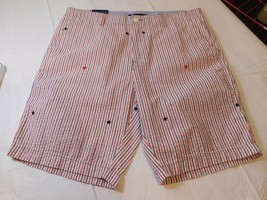 "Tommy Hilfiger Mens Shorts Casual 78C5911 641 9"" Inseam 42 striped stars... - $40.83"