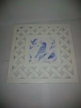 Marjolein Bastin Nature's Sketchbook Trivet Blue Birds Lattice Weave - $7.69