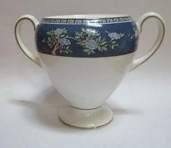 Wedgwood Blue Siam Sugar Bowl No Lid Globe Shape - $12.85