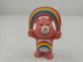 "Vintage 1983 AGC Care Bears CHEER BEAR  2.5"" PVC Figure Holding a Rainb... - $7.50"
