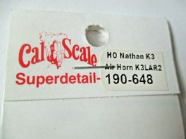 Cal Cal Scale # 190-648 Brass Nathan K3 Air Horn K3LAR2. 1 Pack HO Scale image 2