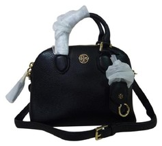 NWT Tory Burch Black Pebbled Mini Robinson Dome Cross Body Bag  - $395 - $391.05