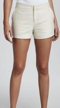 Joie Merci Women's Jean Beige Textured Linen Blend 3 Pocket Shorts Size ... - $40.58
