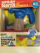 RoseArt Washable Sidewalk Chalk Paint Spray Painter W/ Stencils Pump & S... - $19.79