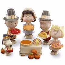 Lenox Peanuts Thanksgiving Pilgrim Figurines Dinner Snoopy Charlie Brown... - $117.10