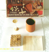Vintage Scrabble Sentence Cube Game 1971 - $24.30