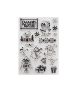 """Acrylic Stamp Set, """"Trim the Tree"""", Includes Full Size Black Ink Stamp Pad - $10.75"""