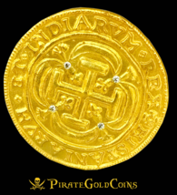 ROYAL DIAMONDS MEXICO 1715 FLEET 8 ESCUDOS GOLD PLT DOUBLOON TREASURE COIN - $795.00