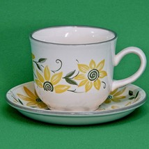 Vintage Staffordshire Tableware (England) Cup And Saucer Set, Pattern STF15 - $4.95