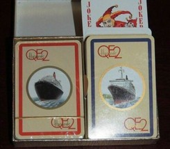 NEW 2 decks Piatnik QE2 / QEII Harrods Playing Cards Harrod's missing top - $35.99