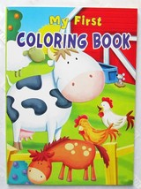 My First Coloring Book NEW Vision Street Large Picture Pages to Color - $2.99