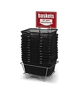 12 Pack - Shopping Basket Set in Black Metal 17 W x 12 D x 7 H Inches - $197.01