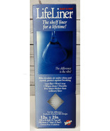 Warp Brothers LifeLiner Ribbed Plastic Shelf Liner Mat, 12 x 25 White NE... - $16.85
