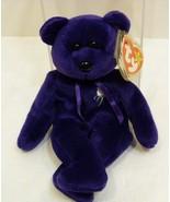 "TY Beanie Babies ""Princess"" - The Purple Bear Princess Diana 1997 & Disp... - $19.98"