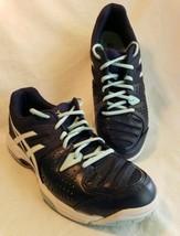 Asics Tennis Athletic Shoes Gel Dedicate Navy Sneakers Womens 9 Lightweight - $27.70