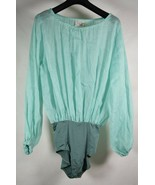 Forte Forte Womens Bodysuit Linen Silk Emerald Long Sleeved 1 NWT  - $297.00