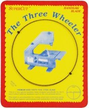 "SuperCut B57W38H6 Three Wheeler Bandsaw Blades, 57"" Long - 3/8"" Width; 6 Hook To - $11.38"