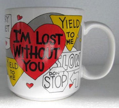 Russ I'M Lost Without You, Slippery When Wet Novelty Collectible Coffee Mug - $16.99