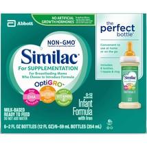 Similac For Supplementation Infant Formula with Iron, Ready-to-Feed Bott... - $67.95