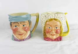 Vintage Pickwick Series hand painted mug Keloboro Ware Mr. Winkle Mrs. B... - $49.44
