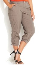 INC International Concepts Plus Size Cargo Cropped Pants Plus Size 18W Nwt - $21.49