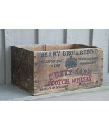 Vintage Cutty Sark Scotch Whisky Wooden Shipping Crate Scotland Berry Br... - $98.99