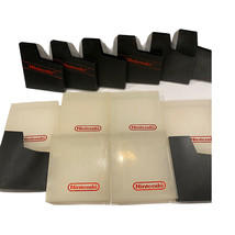 Mixed Lot of 6 Clear Nintendo NES Plastic Dust Cases & 8 Black Sleeves (... - $49.50