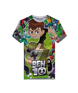 WM Ben 10 Kid Child T Shirt T-shirt Short Sleeve Summer Type Run F - $15.99