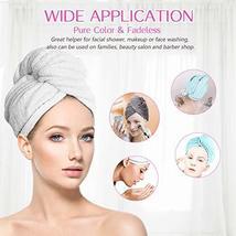 Hair Towel Wrap Turban Microfiber Hair Drying Towels, Quick Magic Hair Dry Hat C image 2