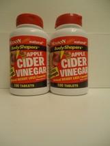 2x Apple Cider Vinegar 100 x 2 = 200 TABLETS 500 mg PER CAP  BEST DEAL - $13.18
