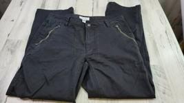 Mens 33x30 Stretch Calvin Klein Black Straight Leg Pants Zippered Pockets  - $19.39