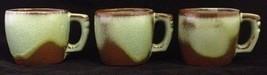 Frankoma Plainsman Lime Green Center Brown Edge Mug Cup SET OF 3 - $23.36