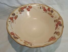 Vintage Pottery Dinnerware Metlox Poppytrail Sculptured Raspberry Serving Bowl - $12.19