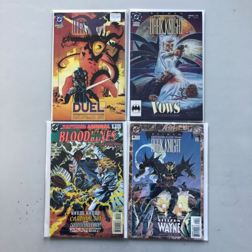 Lot of 4 Batman Legends of the Dark Knight (1989) Annual #1-4 VF Very Fine