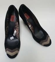 Missoni Shoes Heels Black Brown Beige Pumps Suede Zig Zag Womens Size 10 - £28.76 GBP