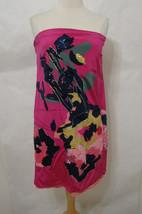 DKNY Donna Karan RUNWAY Multi-Colored Strapless Sequin Floral Silk Dress... - $179.99