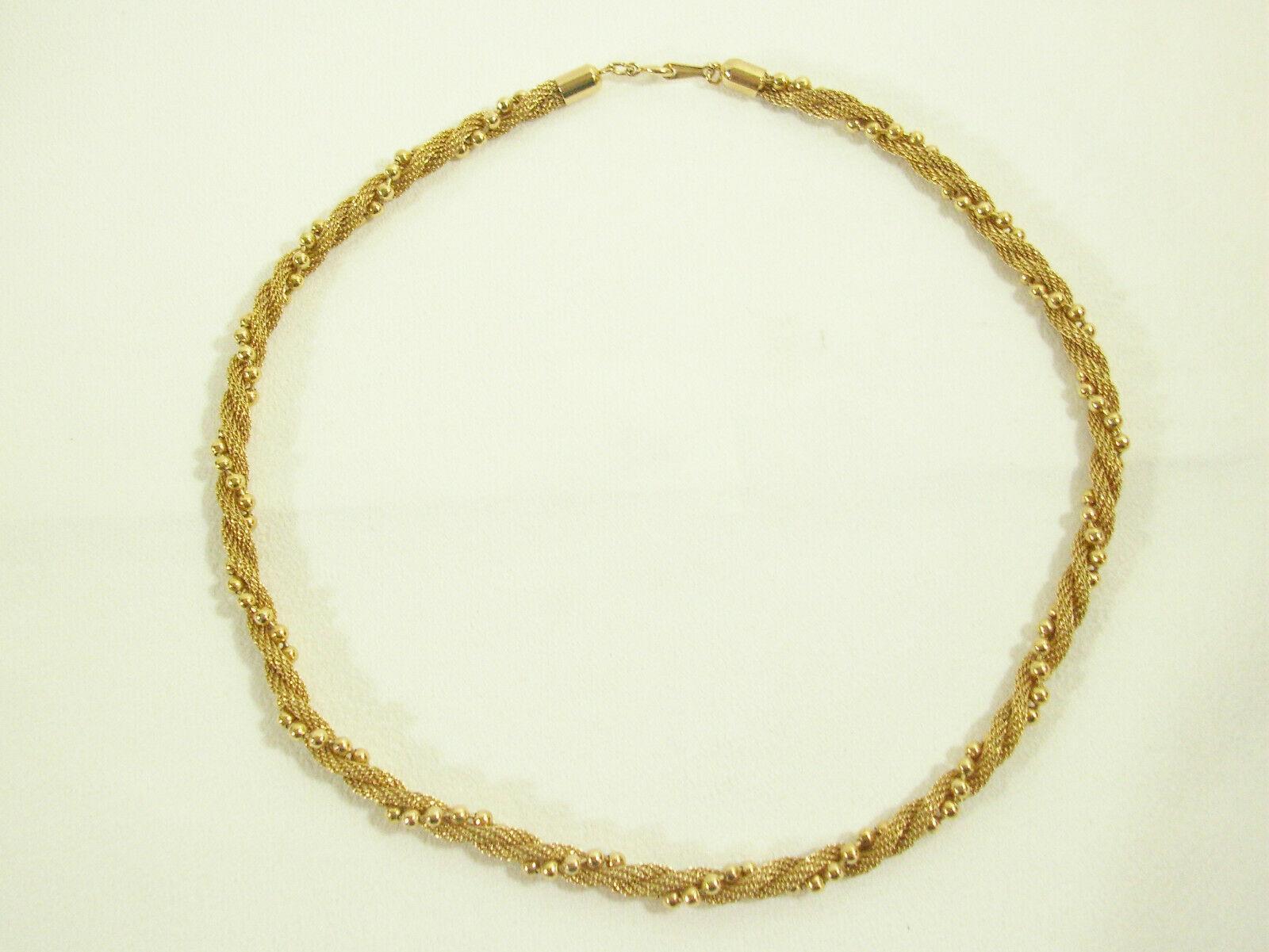Avon Gold Plate Mesh Twist Ball Chain Choker Necklace Elegant Classic image 4