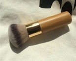 Round Top Buffer Bamboo Eco Friendly Wooden Foundation Cosmetic Makeup Brush NEW