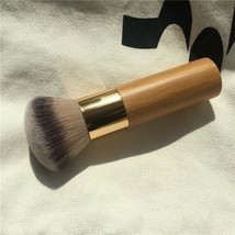 Round Top Buffer Bamboo Eco Friendly Wooden Foundation Cosmetic Makeup B... - £7.75 GBP