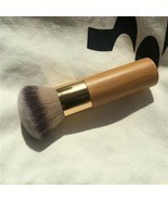 Round Top Buffer Bamboo Eco Friendly Wooden Foundation Cosmetic Makeup B... - $10.58