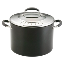 Circulon Elite Hard-Anodized 10-Quart Nonstick Stockpot w/Pouring Lid BL... - $99.90
