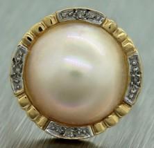 Ladies Vintage Estate 14K 585 Yellow Gold Pearl... - $327.21
