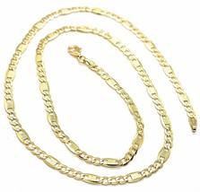 Kette Gelbgold 18K 750, 50 cm, Curb Chain Damen Wohnung und Platten image 1