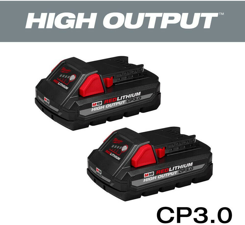 Primary image for Milwaukee Power Tool Battery 3.0 Ah 18-Volt Lithium-Ion Rechargeable (2-Pack)