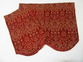 JCP Regal Home Floral Red Gold Chenille 54 x 22 Scalloped Valances (Set ... - $46.00